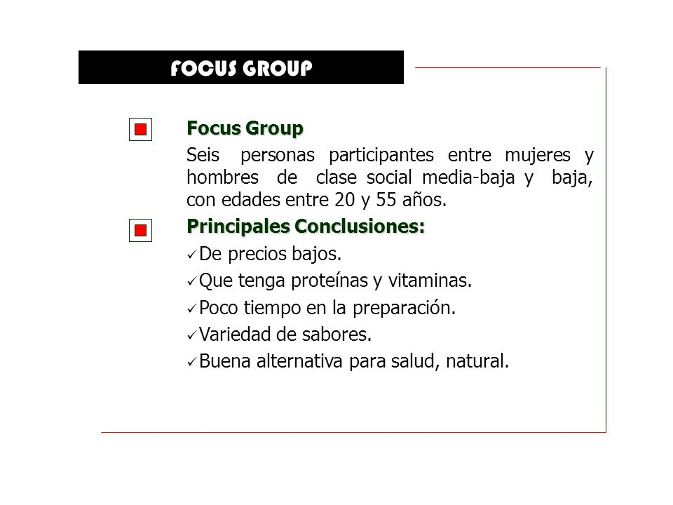 FOCUS GROUP Focus Group