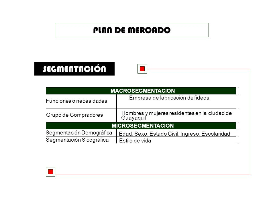 PLAN DE MERCADO SEGMENTACIÓN MACROSEGMENTACION