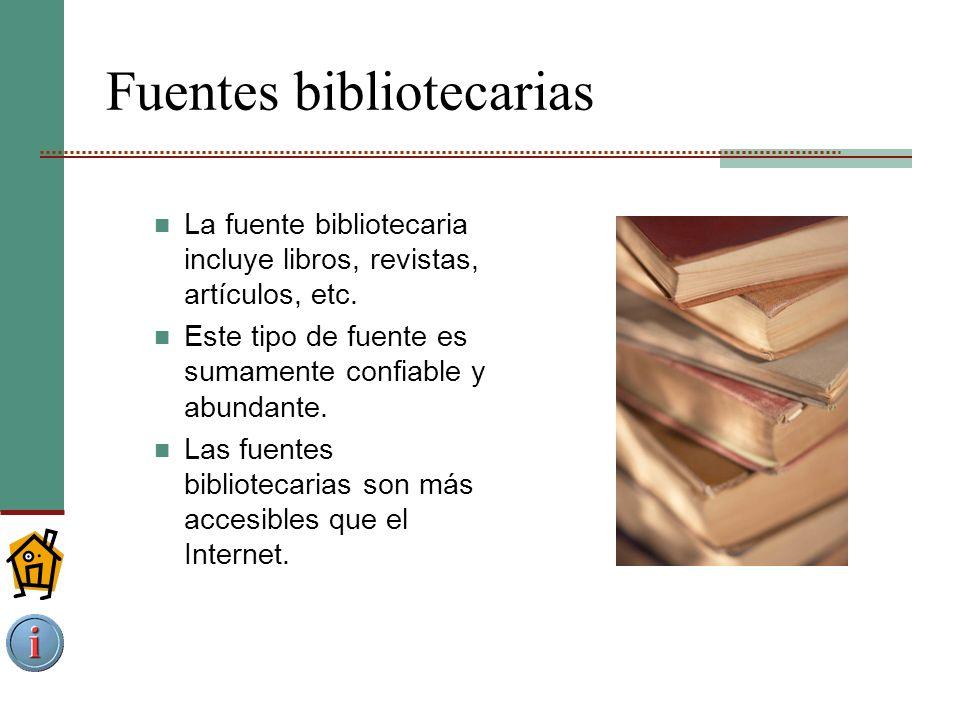 Fuentes bibliotecarias