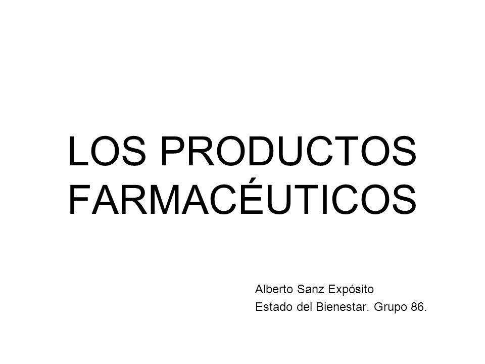 LOS PRODUCTOS FARMACÉUTICOS