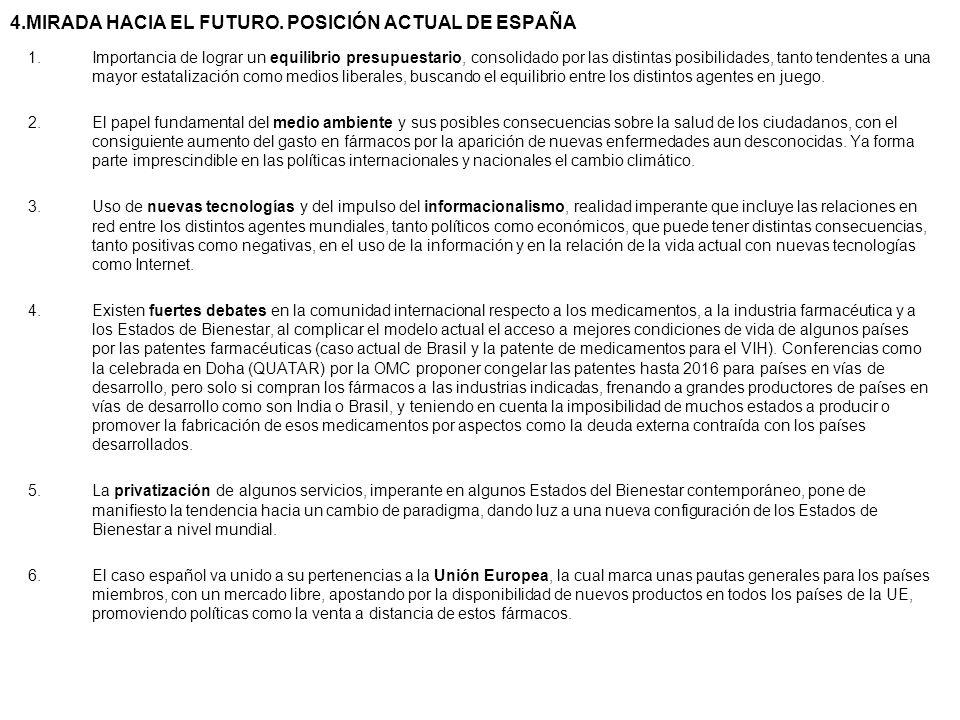 4.MIRADA HACIA EL FUTURO. POSICIÓN ACTUAL DE ESPAÑA