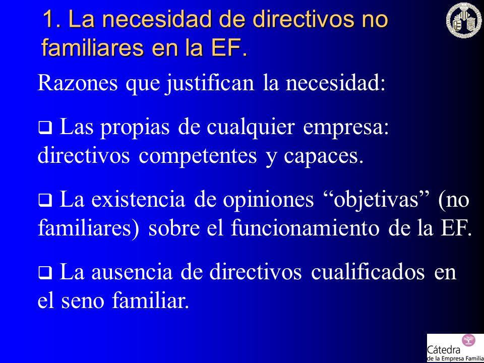 1. La necesidad de directivos no familiares en la EF.