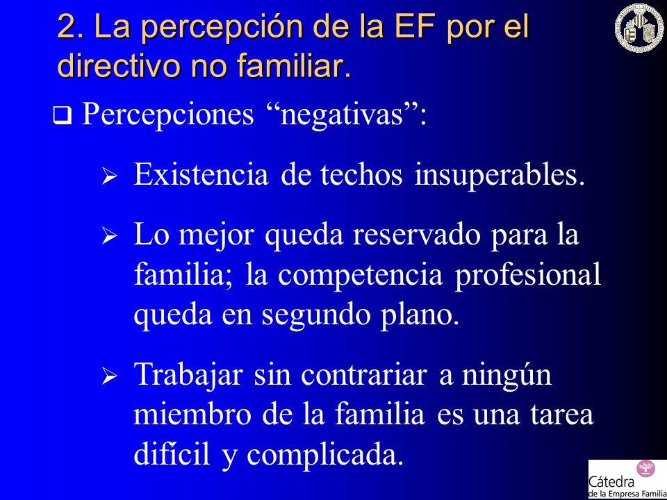 2. La percepción de la EF por el directivo no familiar.