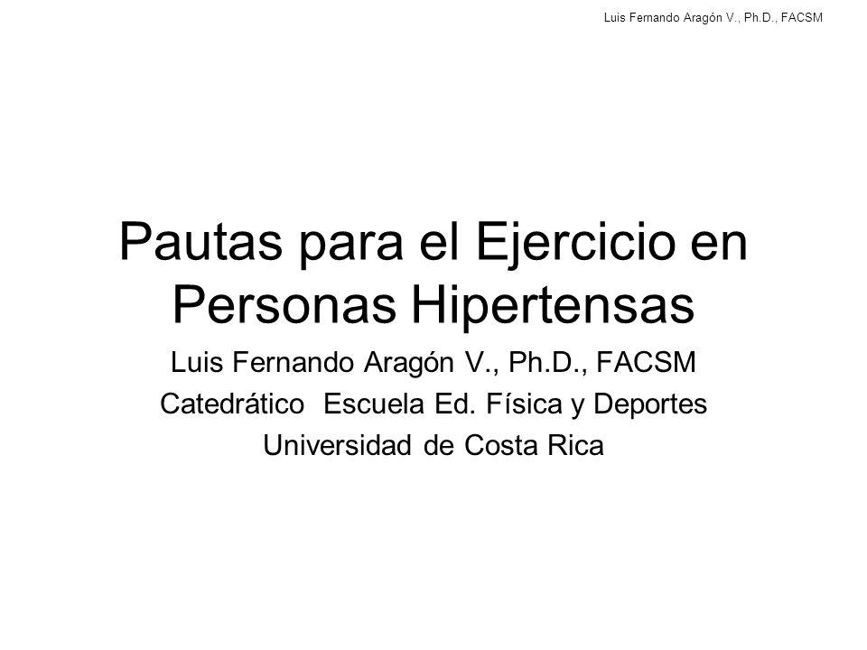 Pautas para el Ejercicio en Personas Hipertensas