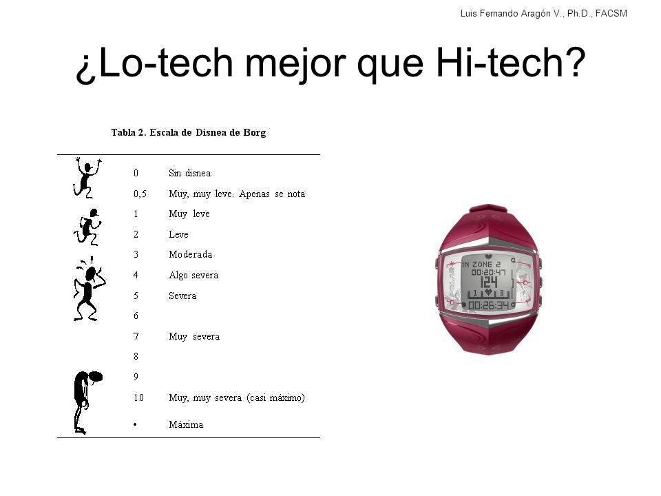 ¿Lo-tech mejor que Hi-tech