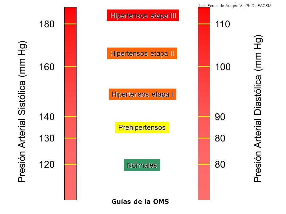 Presión Arterial Diastólica (mm Hg) Presión Arterial Sistólica (mm Hg)