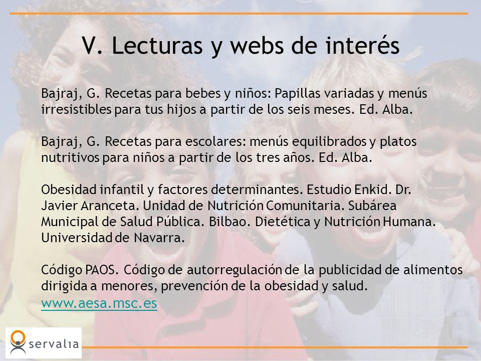 V. Lecturas y webs de interés