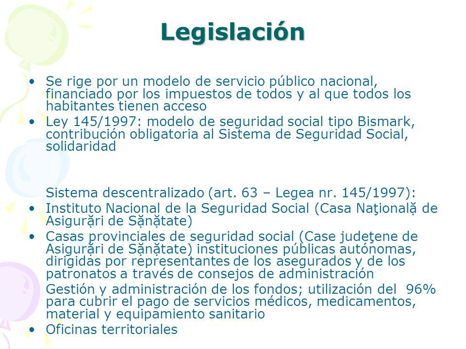 Legislación Se rige por un modelo de servicio público nacional, financiado por los impuestos de todos y al que todos los habitantes tienen acceso.