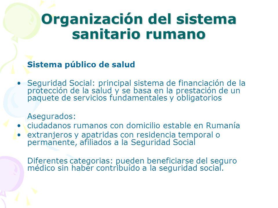 Organización del sistema sanitario rumano