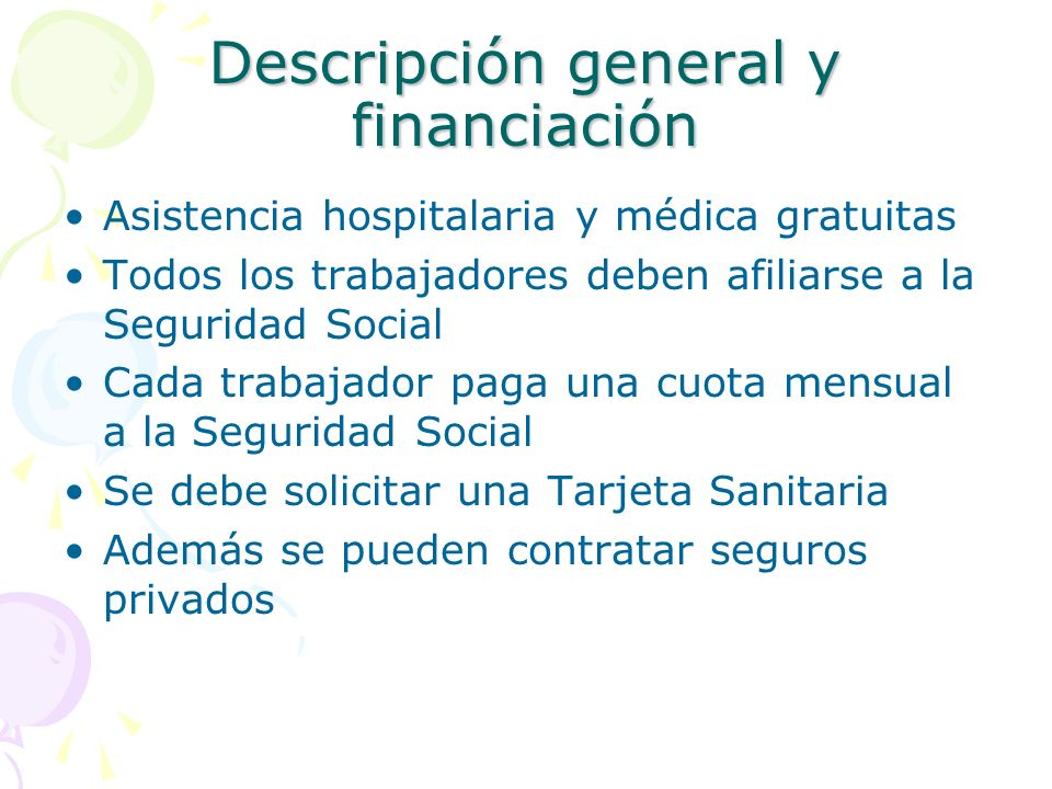 Descripción general y financiación