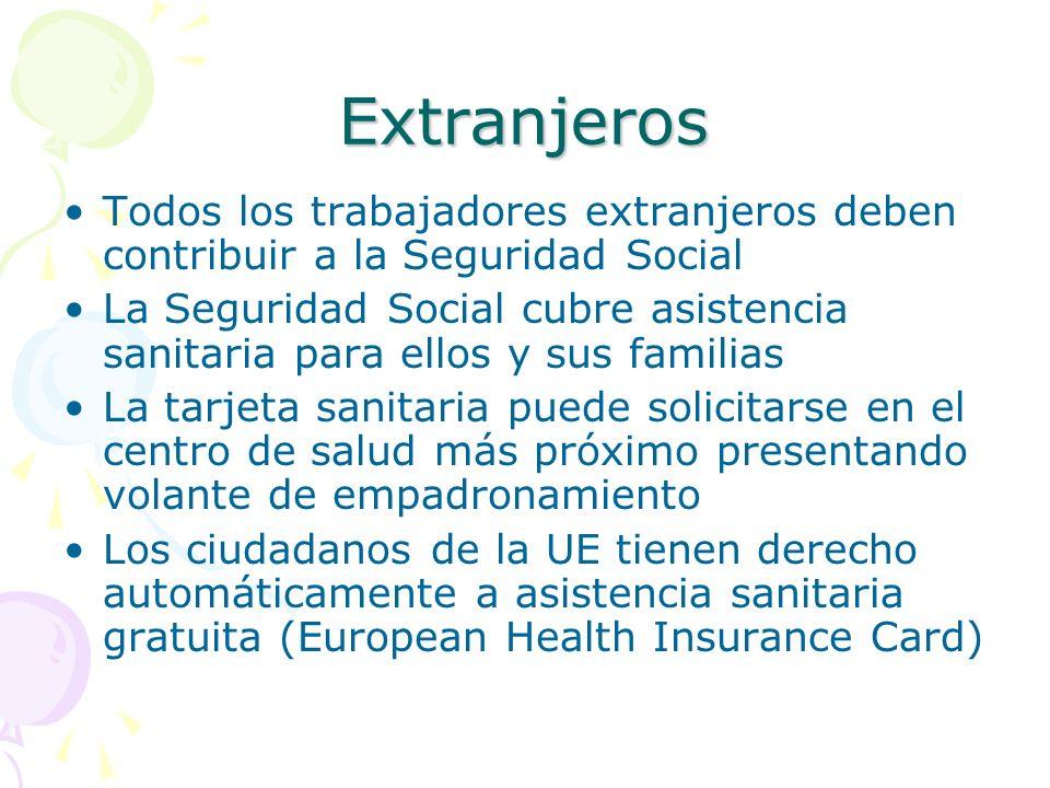 Extranjeros Todos los trabajadores extranjeros deben contribuir a la Seguridad Social.