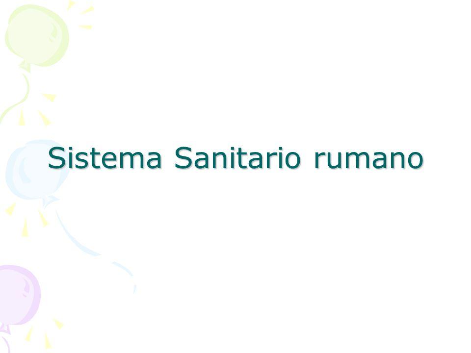Sistema Sanitario rumano