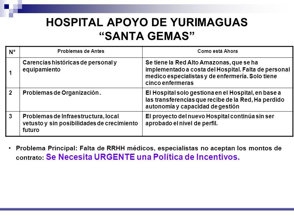 HOSPITAL APOYO DE YURIMAGUAS SANTA GEMAS