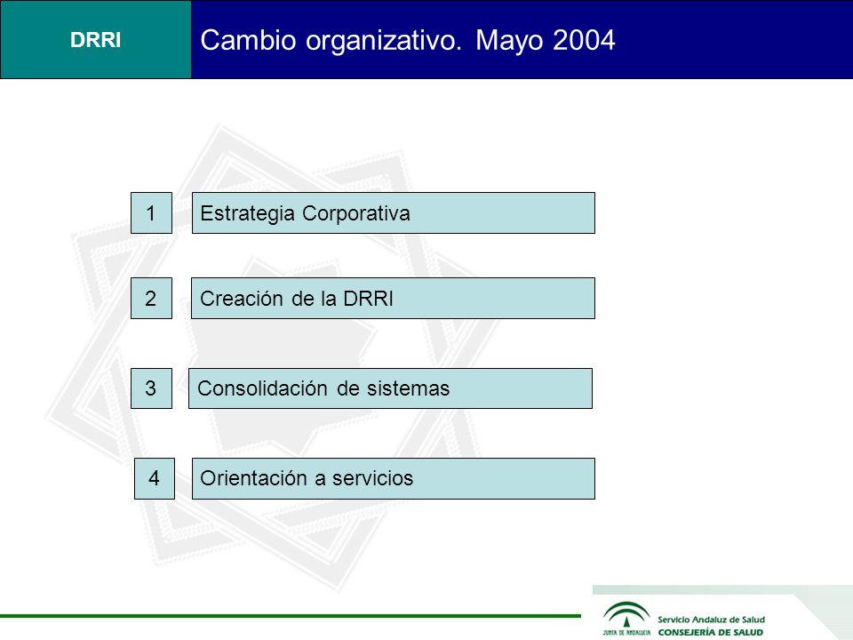 Cambio organizativo. Mayo 2004