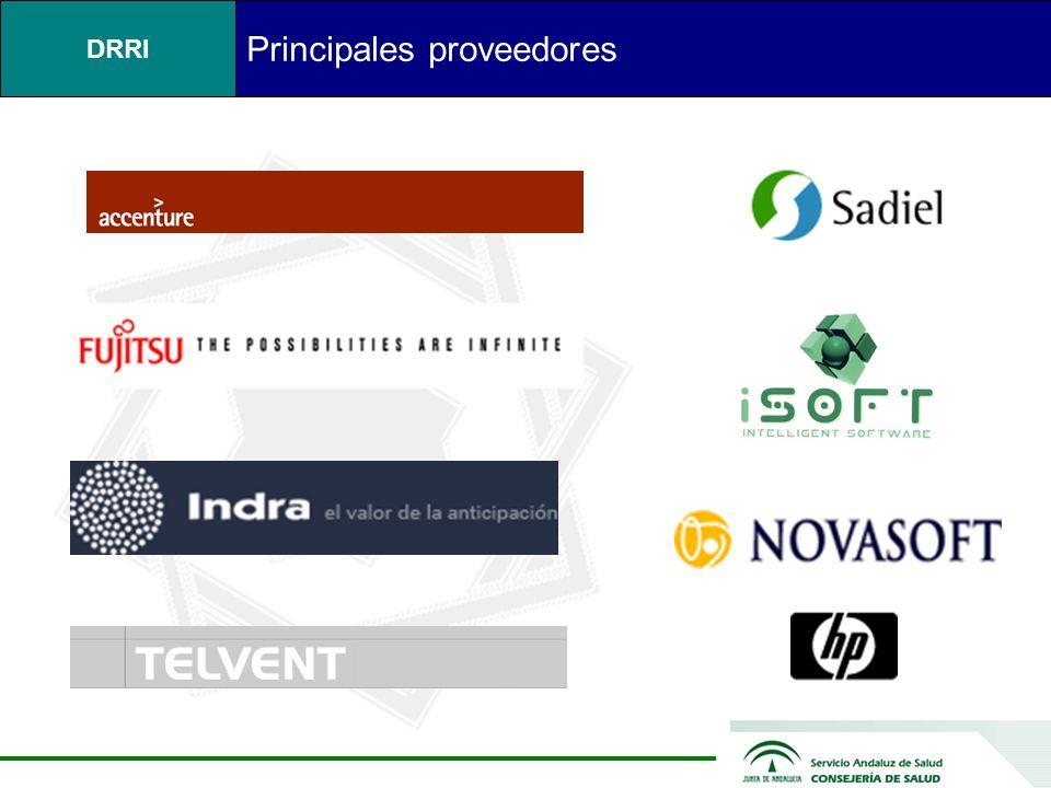 Principales proveedores