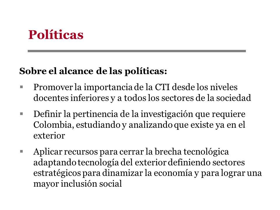 Políticas Sobre el alcance de las políticas: