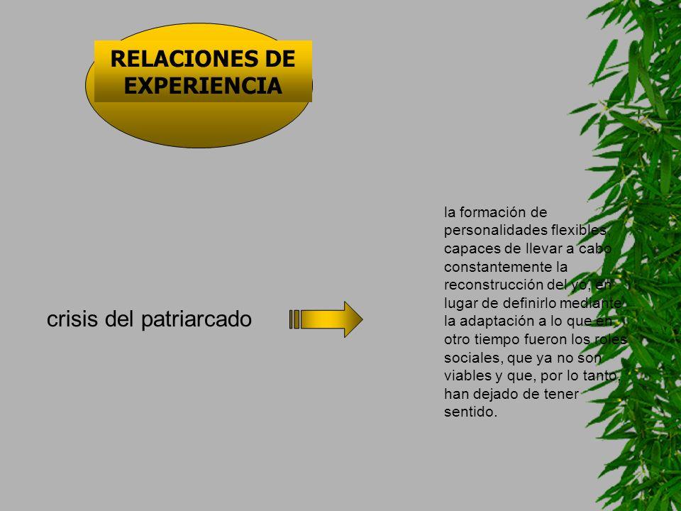 RELACIONES DE EXPERIENCIA