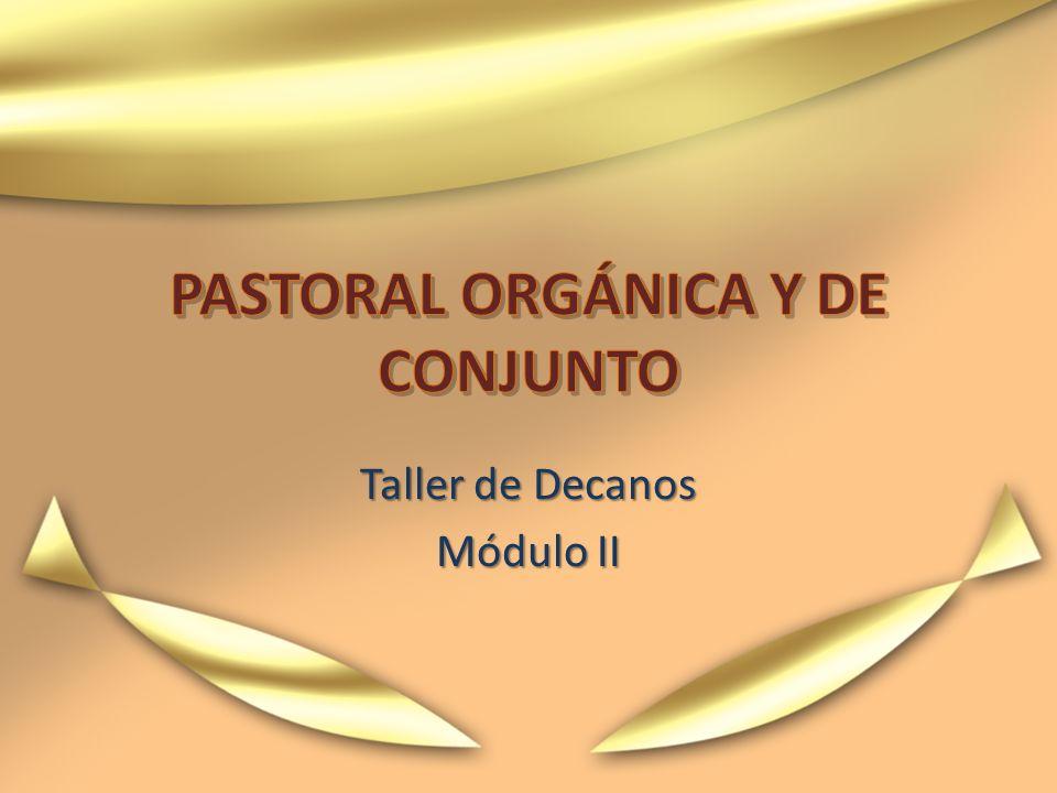 PASTORAL ORGÁNICA Y DE CONJUNTO