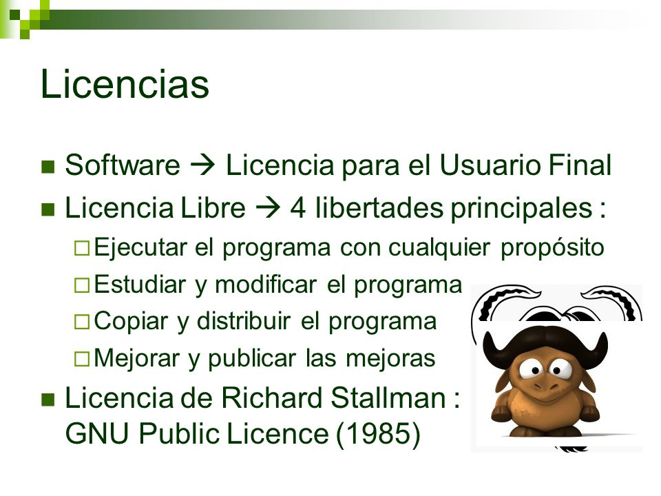 Licencias Software  Licencia para el Usuario Final