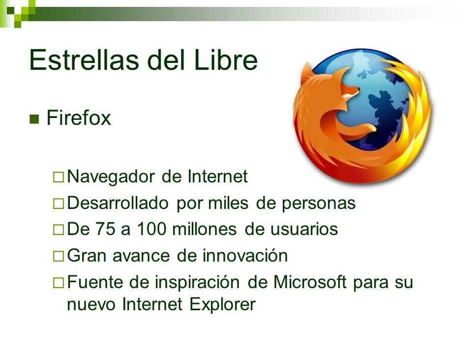 Estrellas del Libre Firefox Navegador de Internet