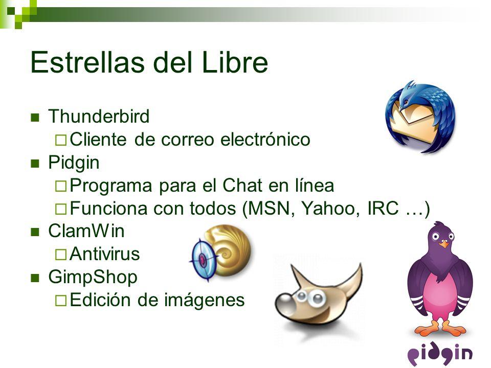 Estrellas del Libre Thunderbird Cliente de correo electrónico Pidgin