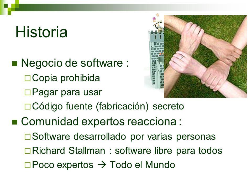 Historia Negocio de software : Comunidad expertos reacciona :