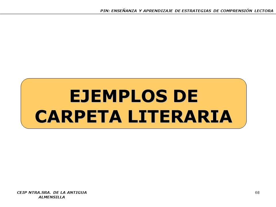 EJEMPLOS DE CARPETA LITERARIA
