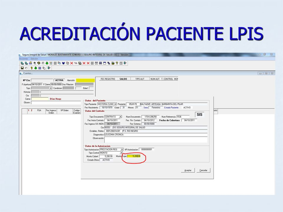 ACREDITACIÓN PACIENTE LPIS