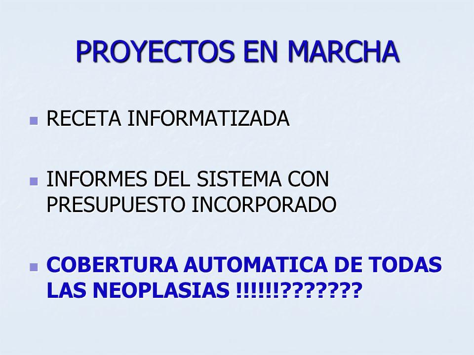 PROYECTOS EN MARCHA RECETA INFORMATIZADA