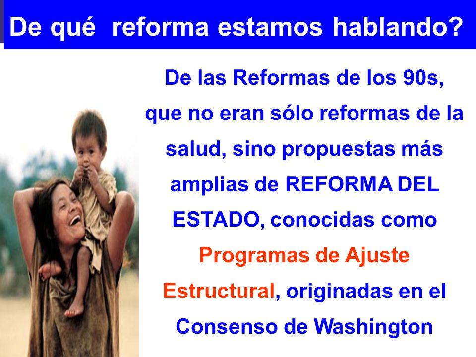 De qué reforma estamos hablando
