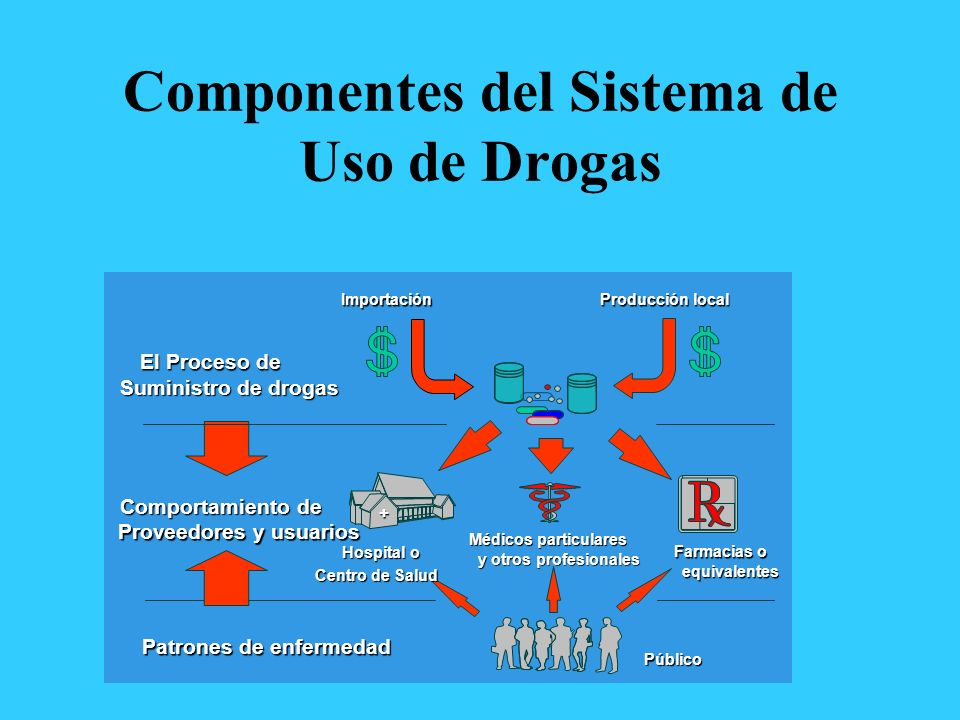 Componentes del Sistema de Uso de Drogas