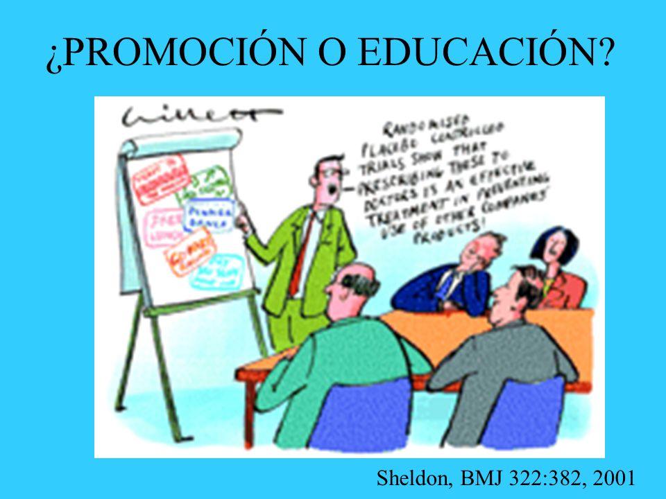 ¿PROMOCIÓN O EDUCACIÓN