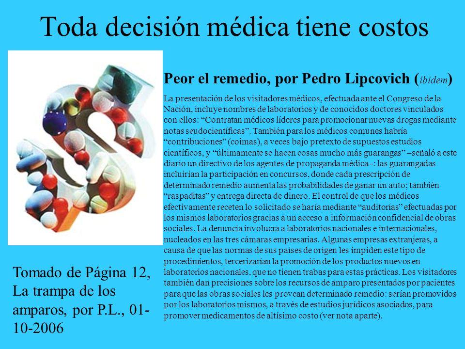 Toda decisión médica tiene costos