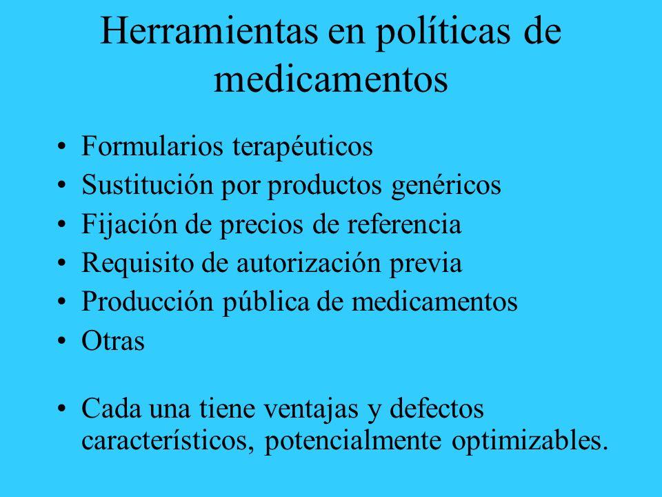 Herramientas en políticas de medicamentos