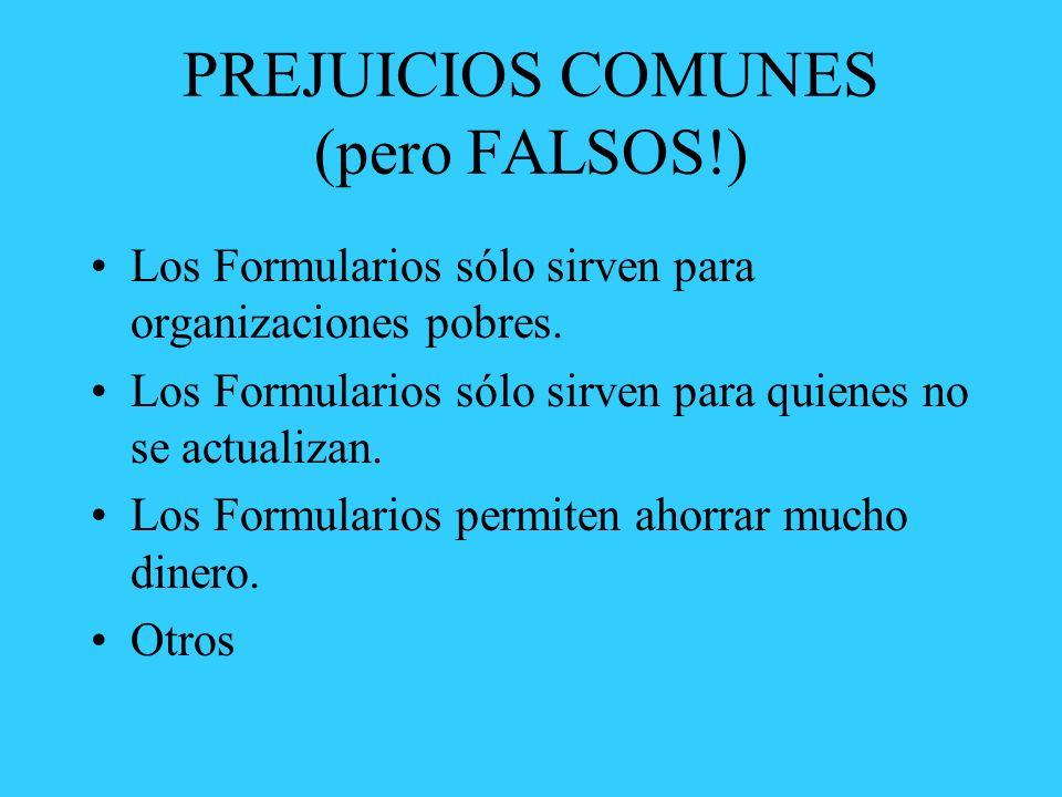 PREJUICIOS COMUNES (pero FALSOS!)