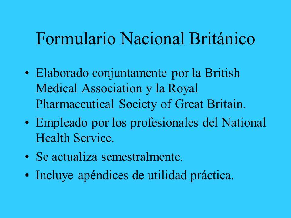 Formulario Nacional Británico
