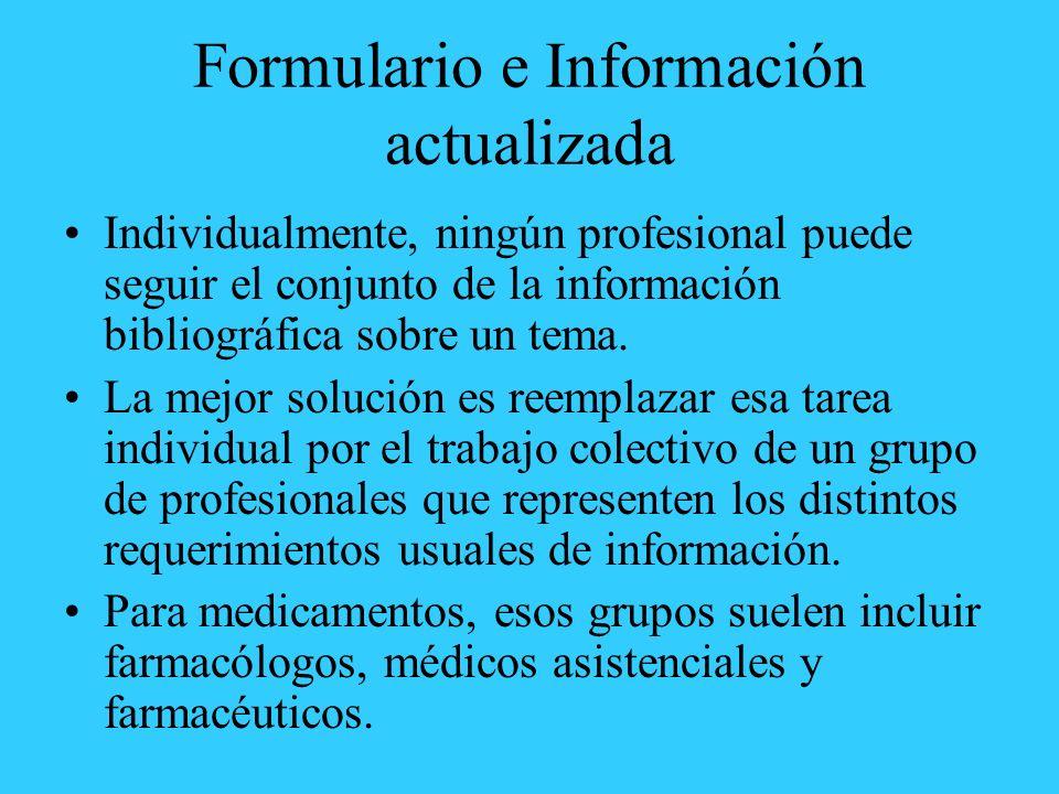 Formulario e Información actualizada