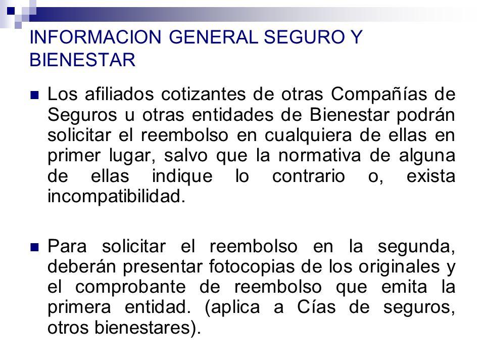 INFORMACION GENERAL SEGURO Y BIENESTAR