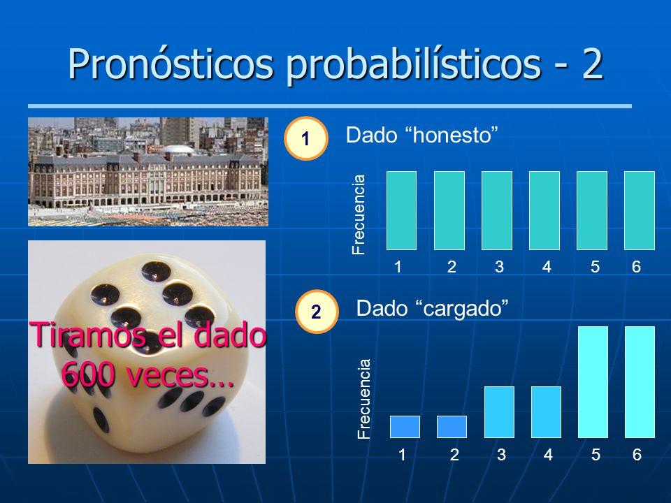 Pronósticos probabilísticos - 2
