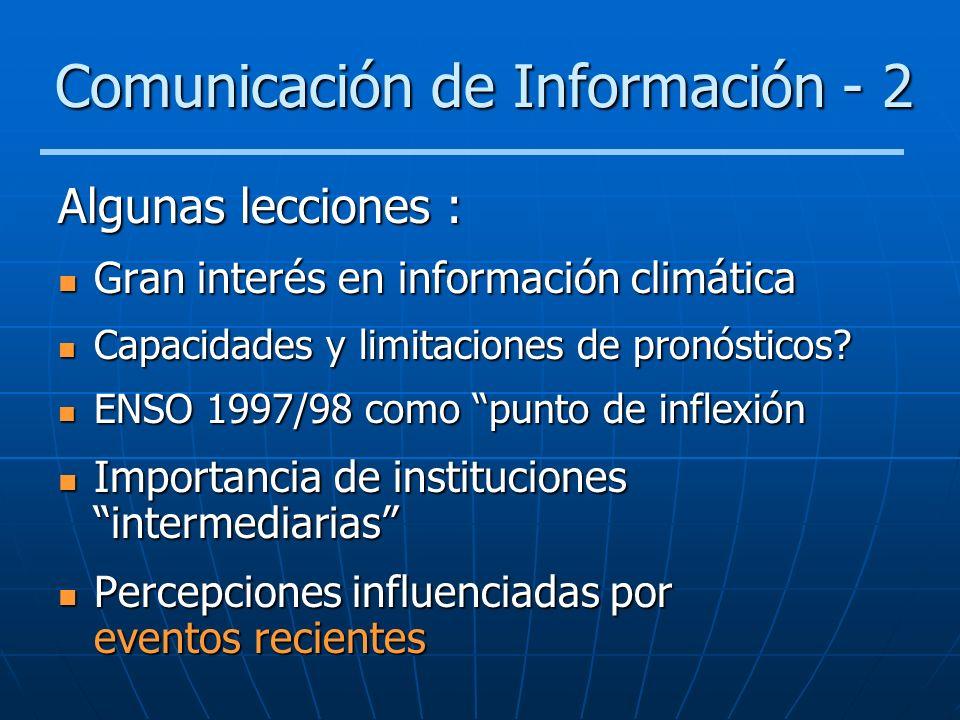 Comunicación de Información - 2
