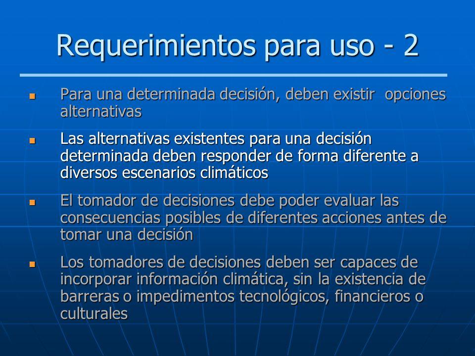 Requerimientos para uso - 2