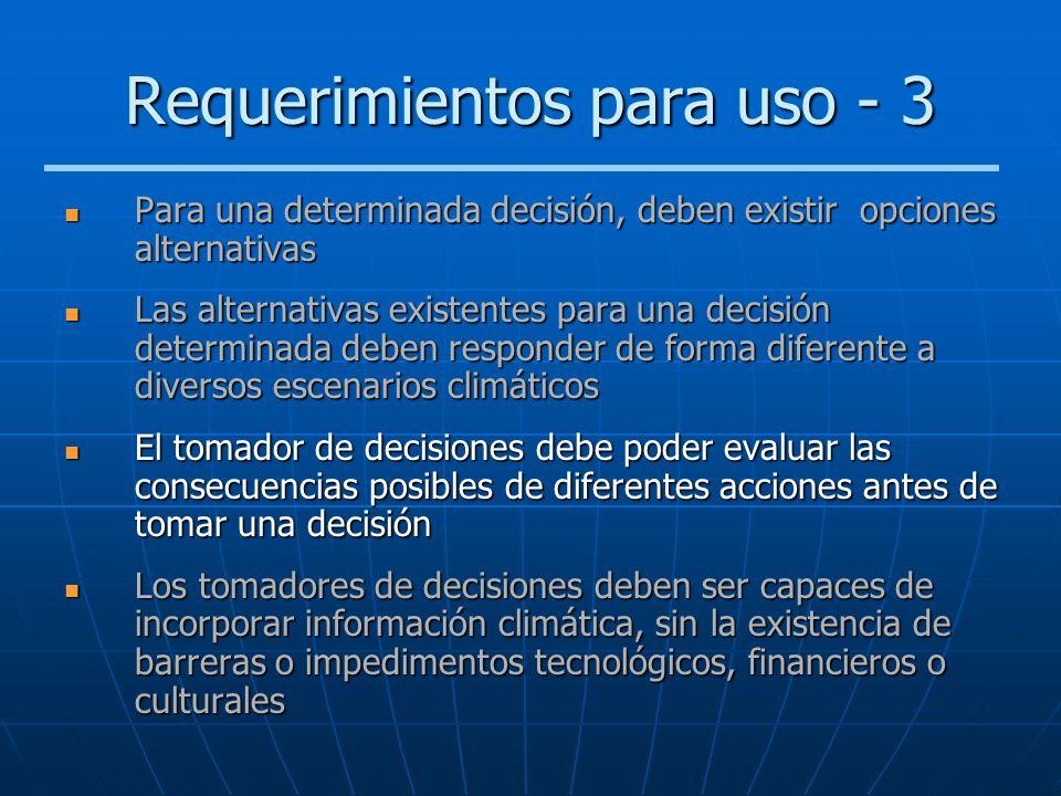 Requerimientos para uso - 3