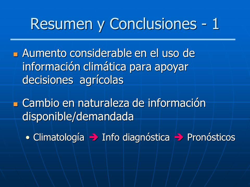 Resumen y Conclusiones - 1