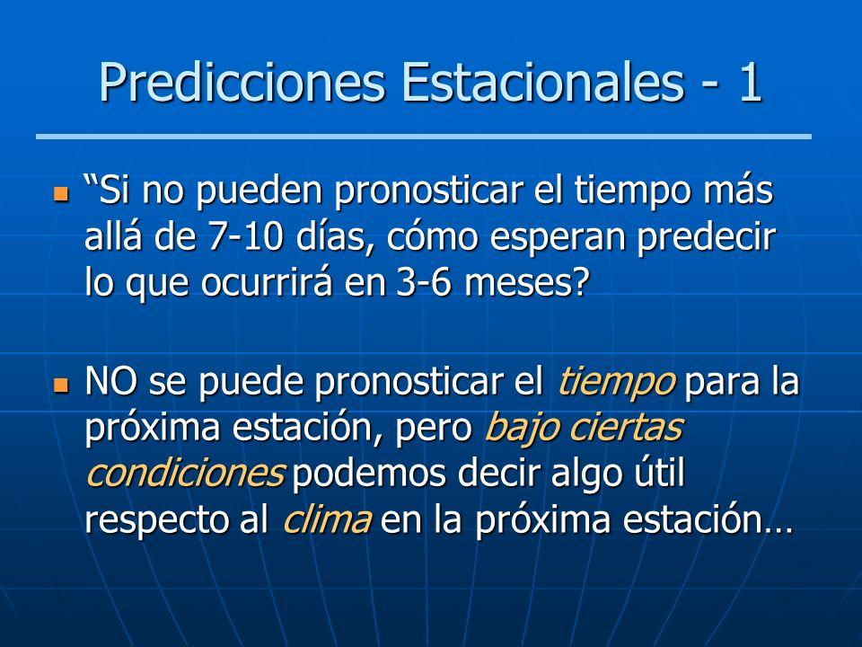 Predicciones Estacionales - 1