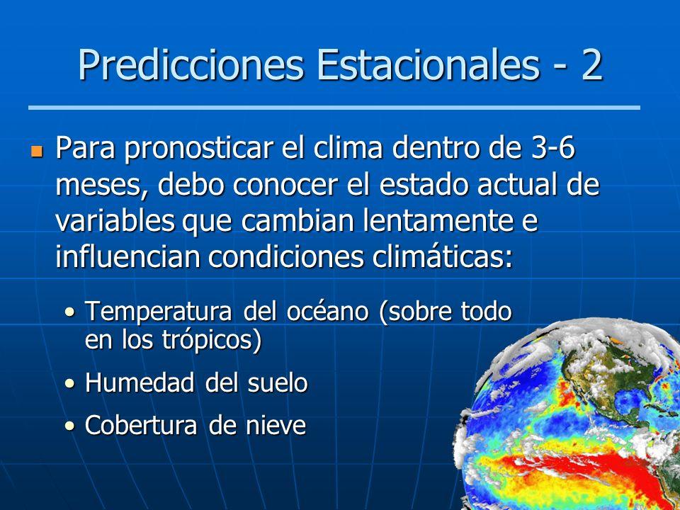 Predicciones Estacionales - 2