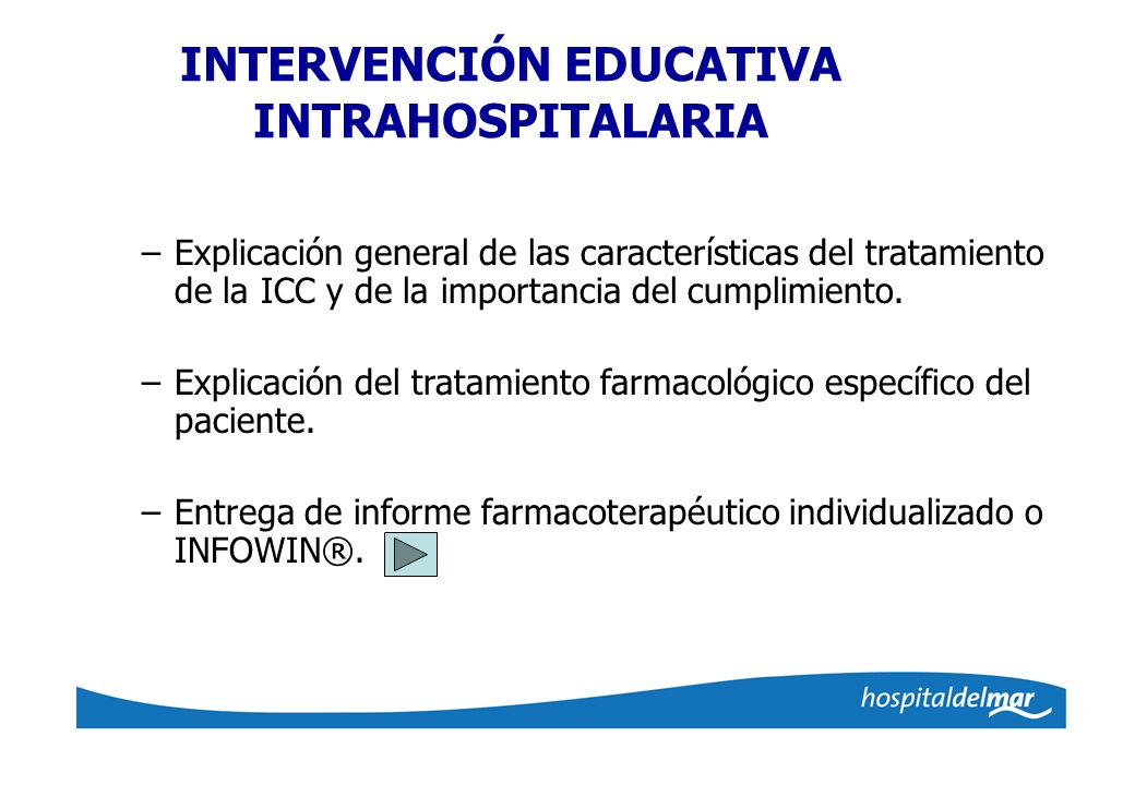 INTERVENCIÓN EDUCATIVA INTRAHOSPITALARIA