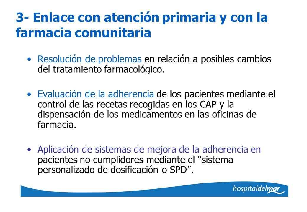 3- Enlace con atención primaria y con la farmacia comunitaria