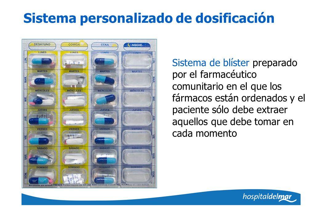 Sistema personalizado de dosificación