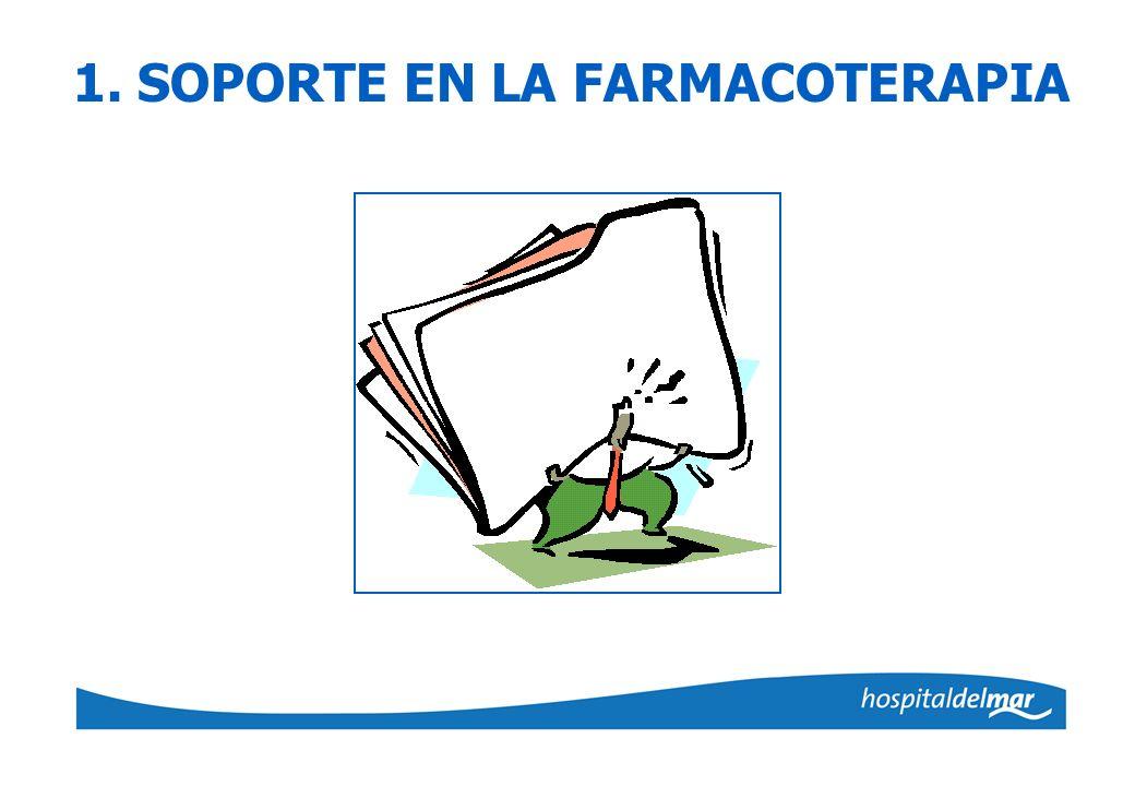 1. SOPORTE EN LA FARMACOTERAPIA