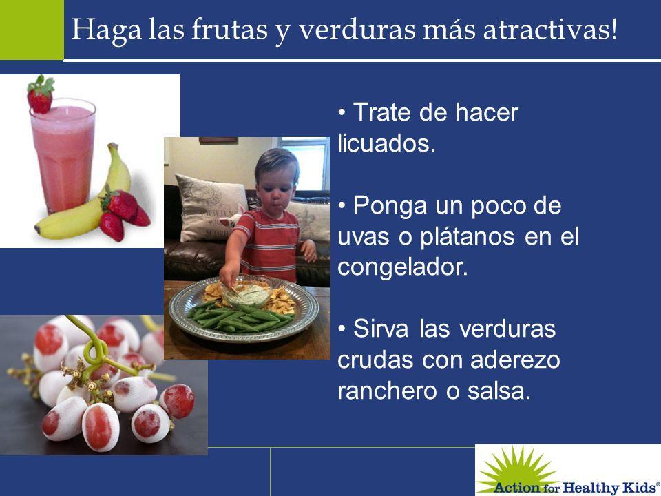 Haga las frutas y verduras más atractivas!